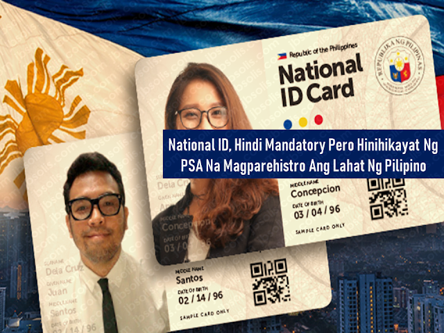 "President Rodrigo Duterte has already signed the law for the implementation of the national ID system recently. The Philippine Statistics Authority (PSA) said that Filipinos are not being forced to register under the national ID system. However, they warned people of the inconvenience they could probably come across in government and business transactions should they decide not to include themselves in the system.  ""It is not explicit in the law that it is mandatory. No one will be forced to enroll in the National ID System,"" National Statistician Lisa Grace Bersales said.  The national ID law seeks to harmonize, integrate, and interconnect various government IDs and reduce them into a single ID to be known as the Philippine Identification System (PhilSys).  The ID card will bear the holders information which includes PhilSys number, full name, facial image, gender, date of birth, blood type, and address. It is not mandatory to register on the said system but those who will not do might face hassles in doing transactions with government and private offices as well.    Advertisement  Concerns about privacy issues and data security were raised by its antagonists but Bersales noted that the provisions of existing laws protect the records of the cardholders such as the Data Privacy Act. Bersales said that any information will be shared only if the individual grants permission to share it or if by emergency situations health or security concerns, the courts shall decide.  Bersales believes that everyone will be compelled to register with the PhilSys as Filipinos who abide with what the law says.   Ads   Presently, to do transactions with government and private offices, a Filipino has to present valid government-issued IDs to go on with the processing of documents they needed.  The implementation of the national ID will make the lives of Filipinos easier by presenting only one ID in doing such kind of transactions. Likewise, it will be easier for the government to extend government services especially when calamity strikes. using the national ID, they can effectively distribute assistance to the people. It will play also a great role in fighting criminality by easily tracking people with criminal records because all the details and biometrics of the cardholder will be included in the ID. To know what informations will be included in the national ID click here.   Ads  Under RA 11055, every citizen or resident alien in the Philippines shall register personally a year after the effectivity of the law.  All citizens and foreigners should go to the following centers to register: PSA Regional Provincial Offices  Local Civil Registry Offices  Government Service Insurance System  Social Security System  Philippine Health Insurance Corporation  Home Development Mutual Fund  Commission on Elections  Philippine Postal Corporation  Other government agencies as assigned by PSA  All Filipino citizens and aliens are urged to register in the PhilSys. Infants born after the implementation of the law shall be registered immediately upon birth.  After registration, the individual will be given a PhilSys Number (PSN) – a randomly generated, unique identification number which will be their permanent lifetime number.  The ID card will also be given and serve as official government-issued identification document that can be used in transactions that require proof of identification. This is filed under President Rodrigo Duterte, national ID system, Philippine Statistics Authority (PSA), PhilSys, Philippine Identification System, government IDs Read More:  The passport is the most important document for the overseas Filipino workers (OFW) and even for the Filipinos who frequently travel outside the country. We should take good care of it. It is not easy to acquire one, especially when even getting an online appointment is like passing through a needle hole although there is a special courtesy lane for OFWs which do not require an online appointment. After securing an appointment, you need to go through DFA passport processing and submit the needed documents.  The new electronic passport (E-passport) validity was extended to so you will be working with it for ten years unless the pages are already full of stamps. In that case, you may need to apply for a new one.        Advertisement  There are things that we should not do with our passport. Taking care of it has to be a way of life.    Do Not Abandon it You are given a maximum of six months to claim it or have it delivered to you, after applying for your Philippine passport. All unclaimed passports beyond that period are canceled automatically in compliance to Department Order No. 37-03. You would just be wasting time and money going through the process of preparing your documents, the actual application and paying for it if you would just abandon it.    Keep it out of children's reach!  A Chinese man was put on hold in Korea after his kid doodled on his passport. The man was preparing to go back to China when he found out that he had made a huge mistake by leaving his passport with his son who treated his passport as a sketchbook. If you let them vandalize your passport, it is not their fault.  Any unauthorized sketches and signature could render your passport invalid for travel.    Do Not Lose it When traveling regard your valid passport as the most essential thing which should be on top of your checklist together with your credit card, cash, and clothes.  immediately report the loss of your passport to the Consular Records Division of the Department of Foreign Affairs (DFA) if you're in the Philippines, or any Philippine consulate or embassy closest to you if you are abroad. You'll need to submit documents like an Affidavit of Loss and Police Report if your passport is still valid, and a photocopy of its first and last pages if available.        Advertisement     Do Not Deface It Another case that would render your passport invalid is getting it damaged, whether by getting wet, having a torn page or sustaining a hole and other markings. In this case, you may need to apply for a new for a passport with a notarized Affidavit of Mutilation attached. You also need to submit a photocopy of the first and last pages of your passport.    Do Not Paste or staple anything on it Do not paste or staple anything on the cover of your passport that may damage the electronic chip on it, or paste/staple printed visas and any stickers on its pages.       Do not pawn or use it as a collateral   A common practice used by Overseas Filipino Workers (OFW), although it is illegal, are passports being used as a loan collateral. Passports are government property and not your own. If you get caught using your passport to loan money from any individual, you can get your travel document canceled and it may affect your next passport applications.   This is filed under the category of DFA passport processing, 10 years passport validity, Electronic Passport, E-Passport, Getting Philippine Passport, passport validity, passport appointment,      Sponsored Links  Read More:  Questions And Answers About UAE Amnesty 2018    What is OWWA's Tulong Puso Program and How OFWs or Organizations Can Avail?     Where And How To Invest In Stocks In The Philippines    Do You Know That You Can Rate Your Recruitment Agency?    Find Out Which Country Has The Fastest Internet Speed Using This Interactive Map  Important Reminders: Things You Should Not Do With Your Passport  Extortion and video or photo voyeurism is a serious crime and our overseas Filipino workers (OFW) are vulnerable to such crimes. A number of cases where female OFWs was lured to send nude photos or videos to their boyfriend whom they only knew online and later the latter will eventually ask for money in agreement that he will not upload the said videos or photos online.       Advertisement       Ads   A man was arrested for extorting money from her OFW girlfriend.  The suspect asked the OFW to give him Php50,000 for the agreement that he will not upload the OFW's nude photos online.    National Bureau of Investigation (NBI)  operatives set up an entrapment operation in response to the complaint of OFW ""Rhia"", (real name withheld) in a restaurant and waited for the suspect Dexter Caminos.  After Rhia handed the money to Caminos, the NBI Cybercrime Division operatives moved quickly putting the suspect under arrest.  The suspect admitted that they were having a quarrel and that he receives allowances from the OFW. He also denied that he was blackmailing the OFW. The suspect also said that it was not extortion and the money is for their business.    Rhia said that she was forced to take an emergency leave from her work in the UAE to file a complaint to the  Philippine authorities.  She also said that he already gave Php40,000 to he suspect due to his threats. He was telling her that he will send the nude photos to her family and to her churchmates if she will not hand him the money.  The victim believes that she was not the only victim since the suspect was also an OFW.  The suspect is facing robbery extortion charges, violation of Violence Against Women and Children Act and Video Voyeurism Act.  This is filed under Extortion, video or photo voyeurism, overseas Filipino workers, OFW, nude photos,   Ads  Read More:  Filed under the category of Abu Dhabi, Al Ain, consulates, Crackdown, Dubai, Embassies, Emirati population, EXPATRIATES, Filipinos in the UAE, illegal residency, illegal residents, ofw, overseas Filipinos workers, United Arab Emirates  There are almost 700,000 overseas Filipinos workers (OFW) living in the United Arab Emirates (UAE), 450,000 of which live in Dubai comprising 21.3% of the total population of Dubai. It is the largest population of Filipinos in the UAE, followed by Abu Dhabi and Al Ain. OFWs in the UAE sent over US$500 million in remittances to the Philippines. The UAE is home to over 200 nationalities. Emirati population is only about 20% of the total population.   To address illegal residency issues, the UAE government is giving amnesty to the expatriates, giving them a chance to correct their residency status before the anticipated crackdown on illegal residents. The amnesty 3-month amnesty period will begin on August 1 until October 31 this year.  Embassies and various consulates representing the expatriates are also expected to coordinate with its nationals during the amnesty period.  Advertisement         Sponsored Links         Expatriates who are staying illegally in the UAE are encouraged to apply for the amnesty. For more information and guidance about what the amnesty is all about and how to avail of it, please check out these useful questions and answers concerning the amnesty to be given to the expats who have issues with their residency in the Gulf state.  1. What is the duration of the amnesty?  Residents can avail of the amnesty for three months from August 1 to October 31  2. Who are the people eligible for amnesty?  The individuals who are staying illegally in the country can apply for amnesty.  3.  What are the two options available for illegal residents under amnesty? Those who wish to exit the country can go back to their home countries without paying fines or facing a jail term. Or individuals can regularise their status by getting a new visa under a sponsor.  4.  Will those who entered the country illegally be given amnesty?  Yes. But they will exit the country with a two-year ban.  5. Will there be a permanent ban on reentering the UAE for those who avail of amnesty?  No. There will be no ban, and people can re-enter the country on valid visas.  6.  Will the applicant have to pay to overstay fines before modifying their illegal status?  No. Applicants of amnesty will get a waiver on all overstaying fines.  7. What kind of violations will not fall under the amnesty scheme? People who have been blacklisted and also those who have legal cases against them are not eligible for amnesty. All residency violations will fall under the amnesty scheme.  8. Can those who have an absconding report against them apply for amnesty?  Yes, Immigration authorities will remove the absconding report and issue exit permit without a ban.  9. Can applicants who modify their status apply for jobs in the UAE? A: Yes. Applicants can register in the virtual job market available on the website of the Ministry of Human Resources and Emiratisation  10. How long can those who modified their residency status stay in the country to look for jobs? A: People looking for jobs can obtain a six-month temporary visa to look for employment.  11. How can residents apply for amnesty?  A: Illegal residents wishing to exit the country can approach the Immigration department and get an exit permit.  12. What are the documents residents need to submit? A: Residents need to submit the original passport or EC (emergency certificate). They also need to submit an air ticket along with the application.  13. What is the fee for applying for exit permit? A: A fee of AED220 is charged on the exit permit.  14. What is the fee for modifying residency status? A: A fee of AED500 is charged.  15. Can residents without passports apply for amnesty? A: Yes, Residents without passports can also apply.  16. What is the time period to exit the country after getting the exit pass? A: Individuals have to exit within 10 days of getting the exit pass.  17. How can those who cannot come to the Immigration apply for amnesty? A: Immigration will issue exit permits based on medical reports or letter from the embassy or consulate.  18. How many amnesty service centers have authorities established across the UAE? A: A total of nine centers have been established at the centers of the General Directorates of Residency and Foreign Affairs across the UAE.  19. Where are the centers in Abu Dhabi located? A: Al Ain, Shahama, and Al Garbia  20. Where can people submit their documents in Dubai? A: At Al Aweer Immigration center  21. What is the location for other emirates? A: The amnesty centers are located at the Immigration Offices in the emirates.  22. What are the timings for the centers? A: The amnesty service centers will open from 8am to 8pm.  Families coming from war-torn countries like Syria and Yemen will be granted a one-year residence visa without restrictions attached.    Meanwhile, a social media post from the Philippine Embassy in the UAE said that for the OFWs who wish to be repatriated to the Philippines, the Philippine government will shoulder their one-way plane ticket and other fees.   However, the embassy clarifies that it is only applied to only those who are willing to go back home.  For more information regarding the details of the amnesty, keep in touch with  Philippine Embassy in Abu Dhabi or send an email to atn.abudhabi@gmail.com    For those who are in Dubai and the Northern Emirates, they can go to the Philippine Consulate in Dubai  or send an email to amnesty@pcgdubai.ae or call 04 220 7100    Filed under the category of Abu Dhabi, Al Ain, consulates, Crackdown, Dubai, Embassies, Emirati population, EXPATRIATES, Filipinos in the UAE, illegal residency, illegal residents, ofw, overseas Filipinos workers, United Arab Emirates  READ MORE:  Find Out Which Country Has The Fastest Internet Speed Using This Interactive Map    Find Out Which Is The Best Broadband Connection In The Philippines   Best Free Video Calling/Messaging Apps Of 2018    Modern Immigration Electronic Gates Now At NAIA    ASEAN Promotes People Mobility Across The Region    You Too Can Earn As Much As P131K From SSS Flexi Fund Investment    Survey: 8 Out of 10 OFWS Are Not Saving Their Money For Retirement    Can A Virgin Birth Be Possible At This Millennial Age?    Dubai OFW Lost His Dreams To A Scammer    Support And Protection Of The OFWs, Still PRRD's Priority  Questions And Answers About UAE Amnesty 2018  The passport is the most important document for the overseas Filipino workers (OFW) and even for the Filipinos who frequently travel outside the country. We should take good care of it. It is not easy to acquire one, especially when even getting an online appointment is like passing through a needle hole although there is a special courtesy lane for OFWs which do not require an online appointment. After securing an appointment, you need to go through DFA passport processing and submit the needed documents.  The new electronic passport (E-passport) validity was extended to so you will be working with it for ten years unless the pages are already full of stamps. In that case, you may need to apply for a new one.        Advertisement  There are things that we should not do with our passport. Taking care of it has to be a way of life.    Do Not Abandon it You are given a maximum of six months to claim it or have it delivered to you, after applying for your Philippine passport. All unclaimed passports beyond that period are canceled automatically in compliance to Department Order No. 37-03. You would just be wasting time and money going through the process of preparing your documents, the actual application and paying for it if you would just abandon it.    Keep it out of children's reach!  A Chinese man was put on hold in Korea after his kid doodled on his passport. The man was preparing to go back to China when he found out that he had made a huge mistake by leaving his passport with his son who treated his passport as a sketchbook. If you let them vandalize your passport, it is not their fault.  Any unauthorized sketches and signature could render your passport invalid for travel.    Do Not Lose it When traveling regard your valid passport as the most essential thing which should be on top of your checklist together with your credit card, cash, and clothes.  immediately report the loss of your passport to the Consular Records Division of the Department of Foreign Affairs (DFA) if you're in the Philippines, or any Philippine consulate or embassy closest to you if you are abroad. You'll need to submit documents like an Affidavit of Loss and Police Report if your passport is still valid, and a photocopy of its first and last pages if available.        Advertisement     Do Not Deface It Another case that would render your passport invalid is getting it damaged, whether by getting wet, having a torn page or sustaining a hole and other markings. In this case, you may need to apply for a new for a passport with a notarized Affidavit of Mutilation attached. You also need to submit a photocopy of the first and last pages of your passport.    Do Not Paste or staple anything on it Do not paste or staple anything on the cover of your passport that may damage the electronic chip on it, or paste/staple printed visas and any stickers on its pages.       Do not pawn or use it as a collateral   A common practice used by Overseas Filipino Workers (OFW), although it is illegal, are passports being used as a loan collateral. Passports are government property and not your own. If you get caught using your passport to loan money from any individual, you can get your travel document canceled and it may affect your next passport applications.   This is filed under the category of DFA passport processing, 10 years passport validity, Electronic Passport, E-Passport, Getting Philippine Passport, passport validity, passport appointment,      Sponsored Links  Read More:  Questions And Answers About UAE Amnesty 2018    What is OWWA's Tulong Puso Program and How OFWs or Organizations Can Avail?     Where And How To Invest In Stocks In The Philippines    Do You Know That You Can Rate Your Recruitment Agency?    Find Out Which Country Has The Fastest Internet Speed Using This Interactive Map  Things You Should Not Do With Your Passport  This is filed under the category of owwa pangkabuhayan loan, owwa benefits loan, owwa cash assistance, owwa office, ofw loan owwa, owwa membership benefits, owwa business program for ofw, ofw loan in owwa, owwa cash loan,   The Overseas Workers Welfare Administration (OWWA)has welcomed the P300-million budget allocated by the Department of Labor and Employment (DOLE) for a livelihood program that is expected to benefit returning overseas Filipino workers (OFW).    DOLE, headed by Secretary Silvestre Bello III, has allocated P300 million as a livelihood support for OFW organizations through OWWA's ""Tulong Pangkabuhayan sa Pag-unlad ng Samahang OFWs ""(Tulong Puso) program.  Advertisement         Sponsored Links     This is filed under the category of owwa pangkabuhayan loan, owwa benefits loan, owwa cash assistance, owwa office, ofw loan owwa, owwa membership benefits, owwa business program for ofw, ofw loan in owwa, owwa cash loan,  The Overseas Workers Welfare Administration (OWWA)has welcomed the P300-million budget allocated by the Department of Labor and Employment (DOLE) for a livelihood program that is expected to benefit returning overseas Filipino workers (OFW).  DOLE, headed by Secretary Silvestre Bello III, has allocated P300 million as a livelihood support for OFW organizations through OWWA's Tulong Pangkabuhayan sa Pag-unlad ng Samahang OFWs (Tulong Puso) program. Advertisement        Sponsored Links        It is a mechanism of DOLE-OWWA to urge OFW organizations or groups to put up new livelihood programs or businesses. Together with their partners like the Department of Trade and Industry (DTI) and Department of Agriculture (DA), they will conduct enterprise development training and other social preparation intervention to equip OFW groups all the vital skills and trainings to ensure high success rates of whatever project they want to start. Any interested DOLE, CDA  accredited or SEC-registered OFW groups may submit their project proposal together with the required documents at any of the 17 OWWA Regional Welfare Offices for evaluation.  *For the complete list of the needed requirements, click here.  DOLE believe that the Tulong PUSO program could convince the OFW organizations to start a productive endeavor for the good of every OFWs and their family as the community benefit as well.   This is filed under the category of owwa pangkabuhayan loan, owwa benefits loan, owwa cash assistance, owwa office, ofw loan owwa, owwa membership benefits, owwa business program for ofw, ofw loan in owwa, owwa cash loan, READ MORE:  Find Out Which Country Has The Fastest Internet Speed Using This Interactive Map     Find Out Which Is The Best Broadband Connection In The Philippines   Best Free Video Calling/Messaging Apps Of 2018    Modern Immigration Electronic Gates Now At NAIA    ASEAN Promotes People Mobility Across The Region    You Too Can Earn As Much As P131K From SSS Flexi Fund Investment    Survey: 8 Out of 10 OFWS Are Not Saving Their Money For Retirement    Can A Virgin Birth Be Possible At This Millennial Age?    Dubai OFW Lost His Dreams To A Scammer    Support And Protection Of The OFWs, Still PRRD's Priority  It is a mechanism of DOLE-OWWA to urge OFW organizations or groups to put up new livelihood programs or businesses.  Together with their partners like the Department of Trade and Industry (DTI) and Department of Agriculture (DA), they will conduct enterprise development training and other social preparation intervention to equip OFW groups all the vital skills and trainings to ensure high success rates of whatever project they want to start. Any interested DOLE, CDA  accredited or SEC-registered OFW groups may submit their project proposal together with the required documents at any of the 17 OWWA Regional Welfare Offices for evaluation.    *For the complete list of the needed requirements, click here.   DOLE believe that the Tulong PUSO program could convince the OFW organizations to start a productive endeavor for the good of every OFWs and their family as the community benefit as well.     This is filed under the category of owwa pangkabuhayan loan, owwa benefits loan, owwa cash assistance, owwa office, ofw loan owwa, owwa membership benefits, owwa business program for ofw, ofw loan in owwa, owwa cash loan,  This is filed under the category of owwa pangkabuhayan loan, owwa benefits loan, owwa cash assistance, owwa office, ofw loan owwa, owwa membership benefits, owwa business program for ofw, ofw loan in owwa, owwa cash loan,  The Overseas Workers Welfare Administration (OWWA)has welcomed the P300-million budget allocated by the Department of Labor and Employment (DOLE) for a livelihood program that is expected to benefit returning overseas Filipino workers (OFW).  DOLE, headed by Secretary Silvestre Bello III, has allocated P300 million as a livelihood support for OFW organizations through OWWA's Tulong Pangkabuhayan sa Pag-unlad ng Samahang OFWs (Tulong Puso) program. Advertisement        Sponsored Links        It is a mechanism of DOLE-OWWA to urge OFW organizations or groups to put up new livelihood programs or businesses. Together with their partners like the Department of Trade and Industry (DTI) and Department of Agriculture (DA), they will conduct enterprise development training and other social preparation intervention to equip OFW groups all the vital skills and trainings to ensure high success rates of whatever project they want to start. Any interested DOLE, CDA  accredited or SEC-registered OFW groups may submit their project proposal together with the required documents at any of the 17 OWWA Regional Welfare Offices for evaluation.  *For the complete list of the needed requirements, click here.  DOLE believe that the Tulong PUSO program could convince the OFW organizations to start a productive endeavor for the good of every OFWs and their family as the community benefit as well.   This is filed under the category of owwa pangkabuhayan loan, owwa benefits loan, owwa cash assistance, owwa office, ofw loan owwa, owwa membership benefits, owwa business program for ofw, ofw loan in owwa, owwa cash loan, READ MORE:  Find Out Which Country Has The Fastest Internet Speed Using This Interactive Map     Find Out Which Is The Best Broadband Connection In The Philippines   Best Free Video Calling/Messaging Apps Of 2018    Modern Immigration Electronic Gates Now At NAIA    ASEAN Promotes People Mobility Across The Region    You Too Can Earn As Much As P131K From SSS Flexi Fund Investment    Survey: 8 Out of 10 OFWS Are Not Saving Their Money For Retirement    Can A Virgin Birth Be Possible At This Millennial Age?    Dubai OFW Lost His Dreams To A Scammer    Support And Protection Of The OFWs, Still PRRD's Priority   READ MORE:  Find Out Which Country Has The Fastest Internet Speed Using This Interactive Map      Find Out Which Is The Best Broadband Connection In The Philippines   Best Free Video Calling/Messaging Apps Of 2018    Modern Immigration Electronic Gates Now At NAIA    ASEAN Promotes People Mobility Across The Region    You Too Can Earn As Much As P131K From SSS Flexi Fund Investment    Survey: 8 Out of 10 OFWS Are Not Saving Their Money For Retirement    Can A Virgin Birth Be Possible At This Millennial Age?    Dubai OFW Lost His Dreams To A Scammer    Support And Protection Of The OFWs, Still PRRD's Priority  What is OWWA's Tulong Puso Program and How OFWs or Organizations Can Avail?     Where And How To Invest In Stocks In The Philippines  Man Nabbed For ""Sextortion"" Of An OFW  Railways have been always proven as the main factor in determining and assuring the fast flow of commerce and trade for ages. The economy and financial progress of countries all over the world greatly depend on how fast they can transport commodities and services throughout the country and its neighbors.  Up to this present time, railways are still playing its great role in many progressive countries in different continents.  In the Philippines, Duterte administration's Build Build Build program referred to as the ""golden age of infrastructure"", started construction of the nation's first subway system including a number of railway projects.        Advertisement   These projects include Philippine National Railways (PNR) North Rail, PNR South Rail, the Luzon Spine Expressway and Mindanao Rail. The Build Build Build projects which include all of these has an estimated cost of P3.6 trillion which is expected to raise the contribution of infrastructure spending to GDP (gross domestic product) from 5.4 % in 2017 to 7.4% in 2022.    PNR North Rail, which will spend about P225 million, extending to 100 kilometers connecting Manila's Tutuban Station to Pampanga's Clark International Airport. The Tutuban-Clark journey that will last for about 55 minutes is expected to service around 35,000 passengers everyday.    PNR South Rail, which will connect Manila with the Bicol region, will be made of two stretches. The first stretch, from Manila to Los Banos - a distance of 75kms – will be able to accommodate up to 400,000 passengers daily upon its completion in 2022.      The Luzon Spine Expressway is a more ambitious undertaking, for it will start in La Union and end in the Bicol region. It will encompass road projects that are already underway – including the project that will link NLEX (the North Luzon Expressway)and SLEX (the South Luzon Expressway). When the Luzon Spine Expressway is completed, travel time between La Union and the Bicol region will be reduced to under 12 hours.    Ads     Mindanao Rail will be a colossal project. For one thing, there is the distance that it will cover: the 2,000 miles between Tagum and the cities of Davao and Digos. For another, there is the project's price tag: P32 billion. Expected to be completed in 2021, Mindanao Rail will be able to carry 117,000 passengers daily. The travel time between Tagum and Digos will be reduced to just an hour.    These railways and road projects are ambitious but they will do much to increase for the economic development in their coverage areas. Mindanao Rail, in particular, is set to operate in an area that badly needs boosting economic activities.     Ads  However, it's completion target which is expected by 2021is nearly impossible and ambitious.   Will the Build Build Build program be able to beat their due date?     Only four years left in President Duterte's term. Will the next president carry on with these projects? That is the big question now.  This is filed under Railways, commerce and trade, Philippines, Duterte, Build Build Build,  infrastructure, subway system, railway projects, construction,    Read More:  Questions And Answers About UAE Amnesty 2018    Things You Should Not Do With Your Passport    What is OWWA's Tulong Puso Program and How OFWs or Organizations Can Avail?     Where And How To Invest In Stocks In The Philippines These Are Some of the Speedy Trains and Railway Projects In The Philippines  Aside from Philippine passport from the Department of Foreign Affairs (DFA), the birth certificate issued by the Philippine Statistics Authority (PSA) and the NBI clearance from National Bureau Of Investigation (NBI) are among the important documents you need to secure if you are applying for an overseas job. Every aspiring overseas Filipino worker (OFW) has to obtain these documents. But what if you encounter a situation like having a ""hit"" on your NBI clearance or a ""negative intact"" on your PSA birth certificate while applying for these requirements?        Advertisement      ""HIT"" is the term used by NBI Clearance Outlets if the applicant has a similar name and requires their NBI Clearance to do further verification before it is released to its owner.   If a HIT appears, NBI Personnel needs to verify the applicant's identity further. Applicants are instructed to come back 8-10 working days to claim their NBI Clearance.  When you got a ""hit"" in applying for an NBI clearance. Do not Panic!     Here is what you need to do:   —If you know that you don't have any criminal record, no need to worry about it.  —Wait for the date of release of your NBI Clearance as directed by the officer. Come back and claim it to the branch where you applied for it.     —Come as early as possible on the day of the assigned date of release of your NBI Clearance.        Ads   When  applying for PSA birth certificate and you got a result which says  ""negative intact"", you may do the following:    —Check with your local civil registrar where the birth has taken place if you have an existing record of your NSO certificate.   —If you have a record, ask the local civil registrar to endorse your NSO certificate record to PSA.   —If there is no existing record with the local civil registrar, you will need to file for late registration.   —If you have already secured a PSA copy, you can proceed and request your PSA certificate.        Ads    This is filed under Philippine passport, Department of Foreign Affairs, birth certificate, Philippine Statistics Authority (PSA), National Bureau Of Investigation, overseas job, overseas Filipino worker (OFW), NBI Clearance,  Read More:  The passport is the most important document for the overseas Filipino workers (OFW) and even for the Filipinos who frequently travel outside the country. We should take good care of it. It is not easy to acquire one, especially when even getting an online appointment is like passing through a needle hole although there is a special courtesy lane for OFWs which do not require an online appointment. After securing an appointment, you need to go through DFA passport processing and submit the needed documents.  The new electronic passport (E-passport) validity was extended to so you will be working with it for ten years unless the pages are already full of stamps. In that case, you may need to apply for a new one.        Advertisement  There are things that we should not do with our passport. Taking care of it has to be a way of life.    Do Not Abandon it You are given a maximum of six months to claim it or have it delivered to you, after applying for your Philippine passport. All unclaimed passports beyond that period are canceled automatically in compliance to Department Order No. 37-03. You would just be wasting time and money going through the process of preparing your documents, the actual application and paying for it if you would just abandon it.    Keep it out of children's reach!  A Chinese man was put on hold in Korea after his kid doodled on his passport. The man was preparing to go back to China when he found out that he had made a huge mistake by leaving his passport with his son who treated his passport as a sketchbook. If you let them vandalize your passport, it is not their fault.  Any unauthorized sketches and signature could render your passport invalid for travel.    Do Not Lose it When traveling regard your valid passport as the most essential thing which should be on top of your checklist together with your credit card, cash, and clothes.  immediately report the loss of your passport to the Consular Records Division of the Department of Foreign Affairs (DFA) if you're in the Philippines, or any Philippine consulate or embassy closest to you if you are abroad. You'll need to submit documents like an Affidavit of Loss and Police Report if your passport is still valid, and a photocopy of its first and last pages if available.        Advertisement     Do Not Deface It Another case that would render your passport invalid is getting it damaged, whether by getting wet, having a torn page or sustaining a hole and other markings. In this case, you may need to apply for a new for a passport with a notarized Affidavit of Mutilation attached. You also need to submit a photocopy of the first and last pages of your passport.    Do Not Paste or staple anything on it Do not paste or staple anything on the cover of your passport that may damage the electronic chip on it, or paste/staple printed visas and any stickers on its pages.       Do not pawn or use it as a collateral   A common practice used by Overseas Filipino Workers (OFW), although it is illegal, are passports being used as a loan collateral. Passports are government property and not your own. If you get caught using your passport to loan money from any individual, you can get your travel document canceled and it may affect your next passport applications.   This is filed under the category of DFA passport processing, 10 years passport validity, Electronic Passport, E-Passport, Getting Philippine Passport, passport validity, passport appointment,      Sponsored Links  Read More:  Questions And Answers About UAE Amnesty 2018    What is OWWA's Tulong Puso Program and How OFWs or Organizations Can Avail?     Where And How To Invest In Stocks In The Philippines    Do You Know That You Can Rate Your Recruitment Agency?    Find Out Which Country Has The Fastest Internet Speed Using This Interactive Map  Important Reminders: Things You Should Not Do With Your Passport  Extortion and video or photo voyeurism is a serious crime and our overseas Filipino workers (OFW) are vulnerable to such crimes. A number of cases where female OFWs was lured to send nude photos or videos to their boyfriend whom they only knew online and later the latter will eventually ask for money in agreement that he will not upload the said videos or photos online.       Advertisement       Ads   A man was arrested for extorting money from her OFW girlfriend.  The suspect asked the OFW to give him Php50,000 for the agreement that he will not upload the OFW's nude photos online.    National Bureau of Investigation (NBI)  operatives set up an entrapment operation in response to the complaint of OFW ""Rhia"", (real name withheld) in a restaurant and waited for the suspect Dexter Caminos.  After Rhia handed the money to Caminos, the NBI Cybercrime Division operatives moved quickly putting the suspect under arrest.  The suspect admitted that they were having a quarrel and that he receives allowances from the OFW. He also denied that he was blackmailing the OFW. The suspect also said that it was not extortion and the money is for their business.    Rhia said that she was forced to take an emergency leave from her work in the UAE to file a complaint to the  Philippine authorities.  She also said that he already gave Php40,000 to he suspect due to his threats. He was telling her that he will send the nude photos to her family and to her churchmates if she will not hand him the money.  The victim believes that she was not the only victim since the suspect was also an OFW.  The suspect is facing robbery extortion charges, violation of Violence Against Women and Children Act and Video Voyeurism Act.  This is filed under Extortion, video or photo voyeurism, overseas Filipino workers, OFW, nude photos,   Ads  Read More:  Filed under the category of Abu Dhabi, Al Ain, consulates, Crackdown, Dubai, Embassies, Emirati population, EXPATRIATES, Filipinos in the UAE, illegal residency, illegal residents, ofw, overseas Filipinos workers, United Arab Emirates  There are almost 700,000 overseas Filipinos workers (OFW) living in the United Arab Emirates (UAE), 450,000 of which live in Dubai comprising 21.3% of the total population of Dubai. It is the largest population of Filipinos in the UAE, followed by Abu Dhabi and Al Ain. OFWs in the UAE sent over US$500 million in remittances to the Philippines. The UAE is home to over 200 nationalities. Emirati population is only about 20% of the total population.   To address illegal residency issues, the UAE government is giving amnesty to the expatriates, giving them a chance to correct their residency status before the anticipated crackdown on illegal residents. The amnesty 3-month amnesty period will begin on August 1 until October 31 this year.  Embassies and various consulates representing the expatriates are also expected to coordinate with its nationals during the amnesty period.  Advertisement         Sponsored Links         Expatriates who are staying illegally in the UAE are encouraged to apply for the amnesty. For more information and guidance about what the amnesty is all about and how to avail of it, please check out these useful questions and answers concerning the amnesty to be given to the expats who have issues with their residency in the Gulf state.  1. What is the duration of the amnesty?  Residents can avail of the amnesty for three months from August 1 to October 31  2. Who are the people eligible for amnesty?  The individuals who are staying illegally in the country can apply for amnesty.  3.  What are the two options available for illegal residents under amnesty? Those who wish to exit the country can go back to their home countries without paying fines or facing a jail term. Or individuals can regularise their status by getting a new visa under a sponsor.  4.  Will those who entered the country illegally be given amnesty?  Yes. But they will exit the country with a two-year ban.  5. Will there be a permanent ban on reentering the UAE for those who avail of amnesty?  No. There will be no ban, and people can re-enter the country on valid visas.  6.  Will the applicant have to pay to overstay fines before modifying their illegal status?  No. Applicants of amnesty will get a waiver on all overstaying fines.  7. What kind of violations will not fall under the amnesty scheme? People who have been blacklisted and also those who have legal cases against them are not eligible for amnesty. All residency violations will fall under the amnesty scheme.  8. Can those who have an absconding report against them apply for amnesty?  Yes, Immigration authorities will remove the absconding report and issue exit permit without a ban.  9. Can applicants who modify their status apply for jobs in the UAE? A: Yes. Applicants can register in the virtual job market available on the website of the Ministry of Human Resources and Emiratisation  10. How long can those who modified their residency status stay in the country to look for jobs? A: People looking for jobs can obtain a six-month temporary visa to look for employment.  11. How can residents apply for amnesty?  A: Illegal residents wishing to exit the country can approach the Immigration department and get an exit permit.  12. What are the documents residents need to submit? A: Residents need to submit the original passport or EC (emergency certificate). They also need to submit an air ticket along with the application.  13. What is the fee for applying for exit permit? A: A fee of AED220 is charged on the exit permit.  14. What is the fee for modifying residency status? A: A fee of AED500 is charged.  15. Can residents without passports apply for amnesty? A: Yes, Residents without passports can also apply.  16. What is the time period to exit the country after getting the exit pass? A: Individuals have to exit within 10 days of getting the exit pass.  17. How can those who cannot come to the Immigration apply for amnesty? A: Immigration will issue exit permits based on medical reports or letter from the embassy or consulate.  18. How many amnesty service centers have authorities established across the UAE? A: A total of nine centers have been established at the centers of the General Directorates of Residency and Foreign Affairs across the UAE.  19. Where are the centers in Abu Dhabi located? A: Al Ain, Shahama, and Al Garbia  20. Where can people submit their documents in Dubai? A: At Al Aweer Immigration center  21. What is the location for other emirates? A: The amnesty centers are located at the Immigration Offices in the emirates.  22. What are the timings for the centers? A: The amnesty service centers will open from 8am to 8pm.  Families coming from war-torn countries like Syria and Yemen will be granted a one-year residence visa without restrictions attached.    Meanwhile, a social media post from the Philippine Embassy in the UAE said that for the OFWs who wish to be repatriated to the Philippines, the Philippine government will shoulder their one-way plane ticket and other fees.   However, the embassy clarifies that it is only applied to only those who are willing to go back home.  For more information regarding the details of the amnesty, keep in touch with  Philippine Embassy in Abu Dhabi or send an email to atn.abudhabi@gmail.com    For those who are in Dubai and the Northern Emirates, they can go to the Philippine Consulate in Dubai  or send an email to amnesty@pcgdubai.ae or call 04 220 7100    Filed under the category of Abu Dhabi, Al Ain, consulates, Crackdown, Dubai, Embassies, Emirati population, EXPATRIATES, Filipinos in the UAE, illegal residency, illegal residents, ofw, overseas Filipinos workers, United Arab Emirates  READ MORE:  Find Out Which Country Has The Fastest Internet Speed Using This Interactive Map    Find Out Which Is The Best Broadband Connection In The Philippines   Best Free Video Calling/Messaging Apps Of 2018    Modern Immigration Electronic Gates Now At NAIA    ASEAN Promotes People Mobility Across The Region    You Too Can Earn As Much As P131K From SSS Flexi Fund Investment    Survey: 8 Out of 10 OFWS Are Not Saving Their Money For Retirement    Can A Virgin Birth Be Possible At This Millennial Age?    Dubai OFW Lost His Dreams To A Scammer    Support And Protection Of The OFWs, Still PRRD's Priority  Questions And Answers About UAE Amnesty 2018  The passport is the most important document for the overseas Filipino workers (OFW) and even for the Filipinos who frequently travel outside the country. We should take good care of it. It is not easy to acquire one, especially when even getting an online appointment is like passing through a needle hole although there is a special courtesy lane for OFWs which do not require an online appointment. After securing an appointment, you need to go through DFA passport processing and submit the needed documents.  The new electronic passport (E-passport) validity was extended to so you will be working with it for ten years unless the pages are already full of stamps. In that case, you may need to apply for a new one.        Advertisement  There are things that we should not do with our passport. Taking care of it has to be a way of life.    Do Not Abandon it You are given a maximum of six months to claim it or have it delivered to you, after applying for your Philippine passport. All unclaimed passports beyond that period are canceled automatically in compliance to Department Order No. 37-03. You would just be wasting time and money going through the process of preparing your documents, the actual application and paying for it if you would just abandon it.    Keep it out of children's reach!  A Chinese man was put on hold in Korea after his kid doodled on his passport. The man was preparing to go back to China when he found out that he had made a huge mistake by leaving his passport with his son who treated his passport as a sketchbook. If you let them vandalize your passport, it is not their fault.  Any unauthorized sketches and signature could render your passport invalid for travel.    Do Not Lose it When traveling regard your valid passport as the most essential thing which should be on top of your checklist together with your credit card, cash, and clothes.  immediately report the loss of your passport to the Consular Records Division of the Department of Foreign Affairs (DFA) if you're in the Philippines, or any Philippine consulate or embassy closest to you if you are abroad. You'll need to submit documents like an Affidavit of Loss and Police Report if your passport is still valid, and a photocopy of its first and last pages if available.        Advertisement     Do Not Deface It Another case that would render your passport invalid is getting it damaged, whether by getting wet, having a torn page or sustaining a hole and other markings. In this case, you may need to apply for a new for a passport with a notarized Affidavit of Mutilation attached. You also need to submit a photocopy of the first and last pages of your passport.    Do Not Paste or staple anything on it Do not paste or staple anything on the cover of your passport that may damage the electronic chip on it, or paste/staple printed visas and any stickers on its pages.       Do not pawn or use it as a collateral   A common practice used by Overseas Filipino Workers (OFW), although it is illegal, are passports being used as a loan collateral. Passports are government property and not your own. If you get caught using your passport to loan money from any individual, you can get your travel document canceled and it may affect your next passport applications.   This is filed under the category of DFA passport processing, 10 years passport validity, Electronic Passport, E-Passport, Getting Philippine Passport, passport validity, passport appointment,      Sponsored Links  Read More:  Questions And Answers About UAE Amnesty 2018    What is OWWA's Tulong Puso Program and How OFWs or Organizations Can Avail?     Where And How To Invest In Stocks In The Philippines    Do You Know That You Can Rate Your Recruitment Agency?    Find Out Which Country Has The Fastest Internet Speed Using This Interactive Map  Things You Should Not Do With Your Passport  This is filed under the category of owwa pangkabuhayan loan, owwa benefits loan, owwa cash assistance, owwa office, ofw loan owwa, owwa membership benefits, owwa business program for ofw, ofw loan in owwa, owwa cash loan,   The Overseas Workers Welfare Administration (OWWA)has welcomed the P300-million budget allocated by the Department of Labor and Employment (DOLE) for a livelihood program that is expected to benefit returning overseas Filipino workers (OFW).    DOLE, headed by Secretary Silvestre Bello III, has allocated P300 million as a livelihood support for OFW organizations through OWWA's ""Tulong Pangkabuhayan sa Pag-unlad ng Samahang OFWs ""(Tulong Puso) program.  Advertisement         Sponsored Links     This is filed under the category of owwa pangkabuhayan loan, owwa benefits loan, owwa cash assistance, owwa office, ofw loan owwa, owwa membership benefits, owwa business program for ofw, ofw loan in owwa, owwa cash loan,  The Overseas Workers Welfare Administration (OWWA)has welcomed the P300-million budget allocated by the Department of Labor and Employment (DOLE) for a livelihood program that is expected to benefit returning overseas Filipino workers (OFW).  DOLE, headed by Secretary Silvestre Bello III, has allocated P300 million as a livelihood support for OFW organizations through OWWA's Tulong Pangkabuhayan sa Pag-unlad ng Samahang OFWs (Tulong Puso) program. Advertisement        Sponsored Links        It is a mechanism of DOLE-OWWA to urge OFW organizations or groups to put up new livelihood programs or businesses. Together with their partners like the Department of Trade and Industry (DTI) and Department of Agriculture (DA), they will conduct enterprise development training and other social preparation intervention to equip OFW groups all the vital skills and trainings to ensure high success rates of whatever project they want to start. Any interested DOLE, CDA  accredited or SEC-registered OFW groups may submit their project proposal together with the required documents at any of the 17 OWWA Regional Welfare Offices for evaluation.  *For the complete list of the needed requirements, click here.  DOLE believe that the Tulong PUSO program could convince the OFW organizations to start a productive endeavor for the good of every OFWs and their family as the community benefit as well.   This is filed under the category of owwa pangkabuhayan loan, owwa benefits loan, owwa cash assistance, owwa office, ofw loan owwa, owwa membership benefits, owwa business program for ofw, ofw loan in owwa, owwa cash loan, READ MORE:  Find Out Which Country Has The Fastest Internet Speed Using This Interactive Map     Find Out Which Is The Best Broadband Connection In The Philippines   Best Free Video Calling/Messaging Apps Of 2018    Modern Immigration Electronic Gates Now At NAIA    ASEAN Promotes People Mobility Across The Region    You Too Can Earn As Much As P131K From SSS Flexi Fund Investment    Survey: 8 Out of 10 OFWS Are Not Saving Their Money For Retirement    Can A Virgin Birth Be Possible At This Millennial Age?    Dubai OFW Lost His Dreams To A Scammer    Support And Protection Of The OFWs, Still PRRD's Priority  It is a mechanism of DOLE-OWWA to urge OFW organizations or groups to put up new livelihood programs or businesses.  Together with their partners like the Department of Trade and Industry (DTI) and Department of Agriculture (DA), they will conduct enterprise development training and other social preparation intervention to equip OFW groups all the vital skills and trainings to ensure high success rates of whatever project they want to start. Any interested DOLE, CDA  accredited or SEC-registered OFW groups may submit their project proposal together with the required documents at any of the 17 OWWA Regional Welfare Offices for evaluation.    *For the complete list of the needed requirements, click here.   DOLE believe that the Tulong PUSO program could convince the OFW organizations to start a productive endeavor for the good of every OFWs and their family as the community benefit as well.     This is filed under the category of owwa pangkabuhayan loan, owwa benefits loan, owwa cash assistance, owwa office, ofw loan owwa, owwa membership benefits, owwa business program for ofw, ofw loan in owwa, owwa cash loan,  This is filed under the category of owwa pangkabuhayan loan, owwa benefits loan, owwa cash assistance, owwa office, ofw loan owwa, owwa membership benefits, owwa business program for ofw, ofw loan in owwa, owwa cash loan,  The Overseas Workers Welfare Administration (OWWA)has welcomed the P300-million budget allocated by the Department of Labor and Employment (DOLE) for a livelihood program that is expected to benefit returning overseas Filipino workers (OFW).  DOLE, headed by Secretary Silvestre Bello III, has allocated P300 million as a livelihood support for OFW organizations through OWWA's Tulong Pangkabuhayan sa Pag-unlad ng Samahang OFWs (Tulong Puso) program. Advertisement        Sponsored Links        It is a mechanism of DOLE-OWWA to urge OFW organizations or groups to put up new livelihood programs or businesses. Together with their partners like the Department of Trade and Industry (DTI) and Department of Agriculture (DA), they will conduct enterprise development training and other social preparation intervention to equip OFW groups all the vital skills and trainings to ensure high success rates of whatever project they want to start. Any interested DOLE, CDA  accredited or SEC-registered OFW groups may submit their project proposal together with the required documents at any of the 17 OWWA Regional Welfare Offices for evaluation.  *For the complete list of the needed requirements, click here.  DOLE believe that the Tulong PUSO program could convince the OFW organizations to start a productive endeavor for the good of every OFWs and their family as the community benefit as well.   This is filed under the category of owwa pangkabuhayan loan, owwa benefits loan, owwa cash assistance, owwa office, ofw loan owwa, owwa membership benefits, owwa business program for ofw, ofw loan in owwa, owwa cash loan, READ MORE:  Find Out Which Country Has The Fastest Internet Speed Using This Interactive Map     Find Out Which Is The Best Broadband Connection In The Philippines   Best Free Video Calling/Messaging Apps Of 2018    Modern Immigration Electronic Gates Now At NAIA    ASEAN Promotes People Mobility Across The Region    You Too Can Earn As Much As P131K From SSS Flexi Fund Investment    Survey: 8 Out of 10 OFWS Are Not Saving Their Money For Retirement    Can A Virgin Birth Be Possible At This Millennial Age?    Dubai OFW Lost His Dreams To A Scammer    Support And Protection Of The OFWs, Still PRRD's Priority   READ MORE:  Find Out Which Country Has The Fastest Internet Speed Using This Interactive Map      Find Out Which Is The Best Broadband Connection In The Philippines   Best Free Video Calling/Messaging Apps Of 2018    Modern Immigration Electronic Gates Now At NAIA    ASEAN Promotes People Mobility Across The Region    You Too Can Earn As Much As P131K From SSS Flexi Fund Investment    Survey: 8 Out of 10 OFWS Are Not Saving Their Money For Retirement    Can A Virgin Birth Be Possible At This Millennial Age?    Dubai OFW Lost His Dreams To A Scammer    Support And Protection Of The OFWs, Still PRRD's Priority  What is OWWA's Tulong Puso Program and How OFWs or Organizations Can Avail?     Where And How To Invest In Stocks In The Philippines  Man Nabbed For ""Sextortion"" Of An OFW  Railways have been always proven as the main factor in determining and assuring the fast flow of commerce and trade for ages. The economy and financial progress of countries all over the world greatly depend on how fast they can transport commodities and services throughout the country and its neighbors.  Up to this present time, railways are still playing its great role in many progressive countries in different continents.  In the Philippines, Duterte administration's Build Build Build program referred to as the ""golden age of infrastructure"", started construction of the nation's first subway system including a number of railway projects.        Advertisement   These projects include Philippine National Railways (PNR) North Rail, PNR South Rail, the Luzon Spine Expressway and Mindanao Rail. The Build Build Build projects which include all of these has an estimated cost of P3.6 trillion which is expected to raise the contribution of infrastructure spending to GDP (gross domestic product) from 5.4 % in 2017 to 7.4% in 2022.    PNR North Rail, which will spend about P225 million, extending to 100 kilometers connecting Manila's Tutuban Station to Pampanga's Clark International Airport. The Tutuban-Clark journey that will last for about 55 minutes is expected to service around 35,000 passengers everyday.    PNR South Rail, which will connect Manila with the Bicol region, will be made of two stretches. The first stretch, from Manila to Los Banos - a distance of 75kms – will be able to accommodate up to 400,000 passengers daily upon its completion in 2022.      The Luzon Spine Expressway is a more ambitious undertaking, for it will start in La Union and end in the Bicol region. It will encompass road projects that are already underway – including the project that will link NLEX (the North Luzon Expressway)and SLEX (the South Luzon Expressway). When the Luzon Spine Expressway is completed, travel time between La Union and the Bicol region will be reduced to under 12 hours.    Ads     Mindanao Rail will be a colossal project. For one thing, there is the distance that it will cover: the 2,000 miles between Tagum and the cities of Davao and Digos. For another, there is the project's price tag: P32 billion. Expected to be completed in 2021, Mindanao Rail will be able to carry 117,000 passengers daily. The travel time between Tagum and Digos will be reduced to just an hour.    These railways and road projects are ambitious but they will do much to increase for the economic development in their coverage areas. Mindanao Rail, in particular, is set to operate in an area that badly needs boosting economic activities.     Ads  However, it's completion target which is expected by 2021is nearly impossible and ambitious.   Will the Build Build Build program be able to beat their due date?     Only four years left in President Duterte's term. Will the next president carry on with these projects? That is the big question now.  This is filed under Railways, commerce and trade, Philippines, Duterte, Build Build Build,  infrastructure, subway system, railway projects, construction,    Read More:  Questions And Answers About UAE Amnesty 2018    Things You Should Not Do With Your Passport    What is OWWA's Tulong Puso Program and How OFWs or Organizations Can Avail?     Where And How To Invest In Stocks In The Philippines These Are Some of the Speedy Trains and Railway Projects In The Philippines    OFW Scalded By Employer In Saudi Arabia  OFW Scalded By Employer In Saudi Arabia"