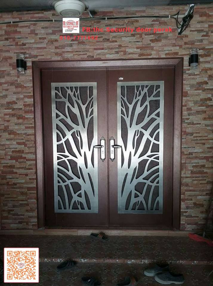 THC Security Door PERAK: AP6 STAINLESS STEEL SINGLE LAYER