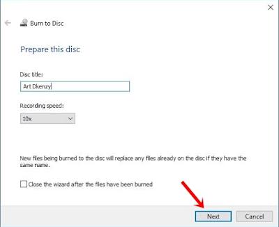 Cara burning CD di windows 10