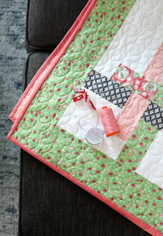 Hello Washi quilt pattern baby quilt Bloomington Fabric
