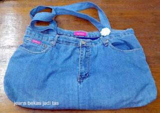 jeans bekas jadi tas