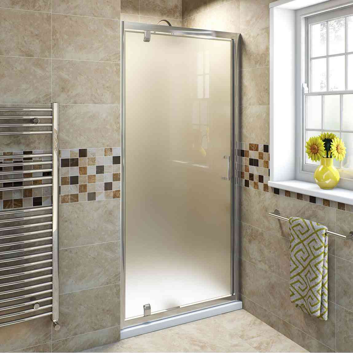 Frosted glass door bathroom - Frosted Sliding Glass Door For Bathroom Home And Garden Ideas