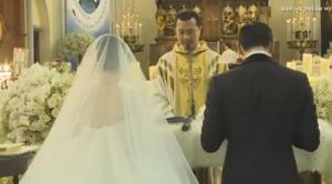 Foto pernikahan Sandra Dewi