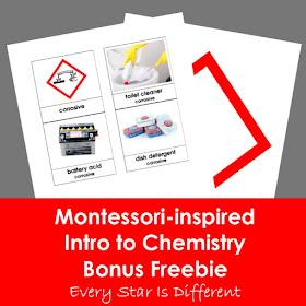 Montessori-inspired Intro to Chemistry Bonus Freebie