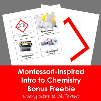 Montessori-inspired Intro to Chemistry Bonus Freebie