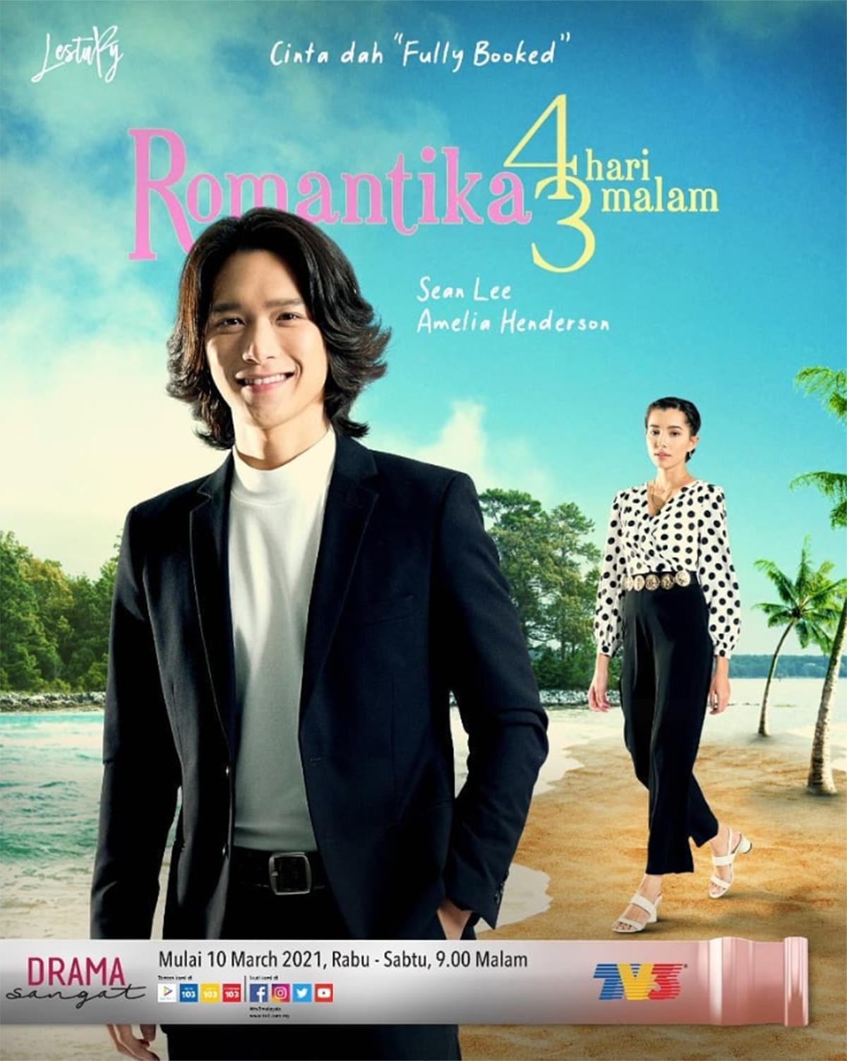 Drama Romantika 4 Hari 3 Malam Episod 1-13 ( Akhir) Lakonan Sean Lee Dan Amelia Henderson