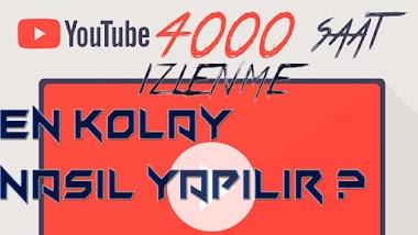 youtube 4000 saat izlenme nasıl yapılır ?