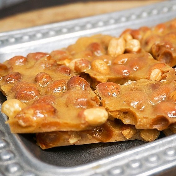 Microwave Buttery Peanut Brittle