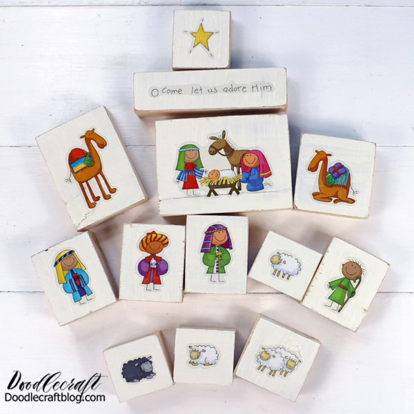 Nativity Block Set Creative Craft Kit Giveaway! This darling Nativity set is the perfect Christmas craft. This comes as a curated craft box, with everything included to make this in about an hour.   I love little nativity sets that are sturdy enough for children to play with...you will not find a ceramic set in my house.  And the best part is--I'm giving away a set!  Rafflecopter at the end of this post!