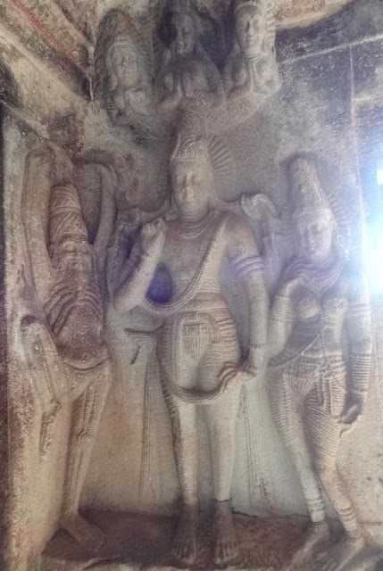 Places to see in Aihole - Ravanphadi cave - Shiva sculpture