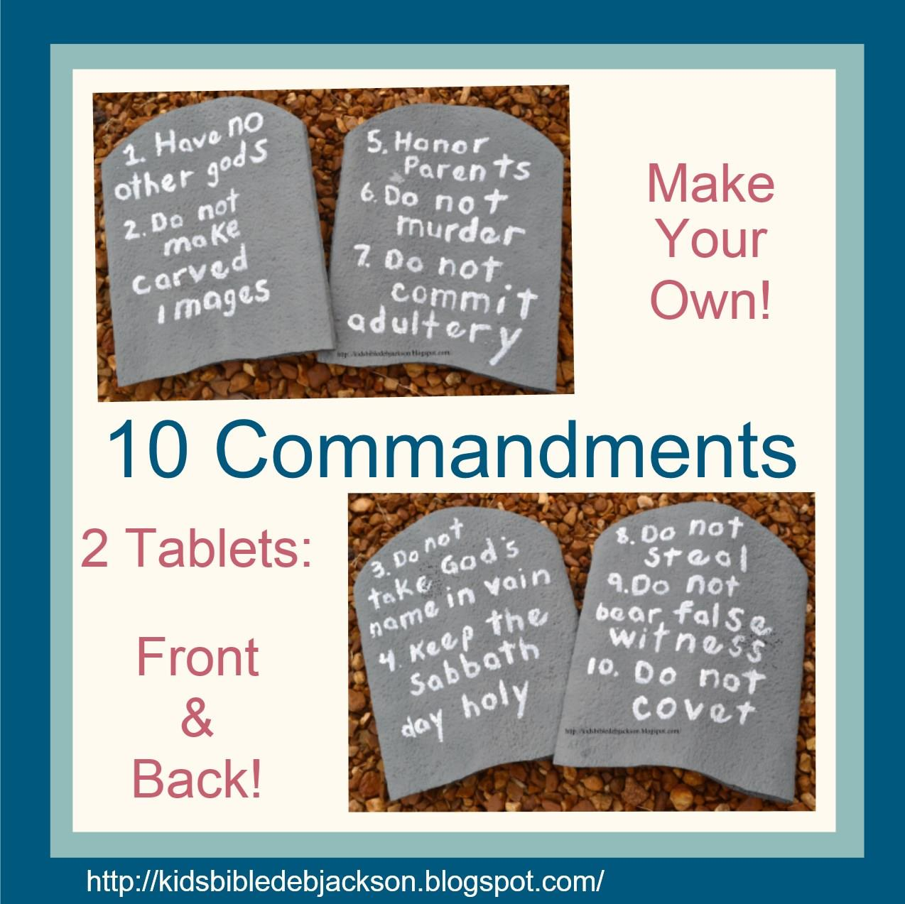 Make Your Own 10 Commandments visual!