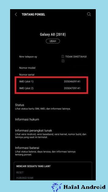 Detail Tentang Ponsel Mulai Tipe HP Hingga IMEI Samsung