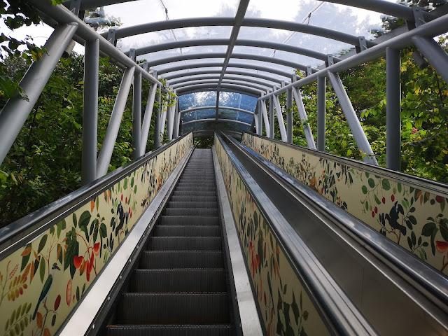 Escalator to Farquar Garden - Fort Canning Park