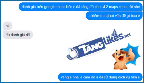 dich vu tang danh gia google maps