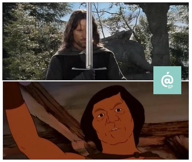 Aragorn - El Señor de los Anillos: Peter Jackson Vs Ralph Bakshi / La Comunidad del Anillo - ÁlvaroGP - el fancine - el troblogdita
