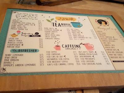 Drinks menu at Hummingbird Eatery Bandung