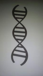 estructura del adn silueta