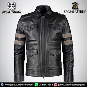 Jual Jaket Kulit Asli Garut Pria Domba Original Brida Leather B23   WA 08813430588