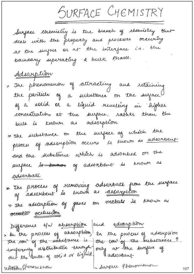 Chemistry Chapterwise Notes (Surface Chemistry) : For JEE and NEET Exam PDF Book