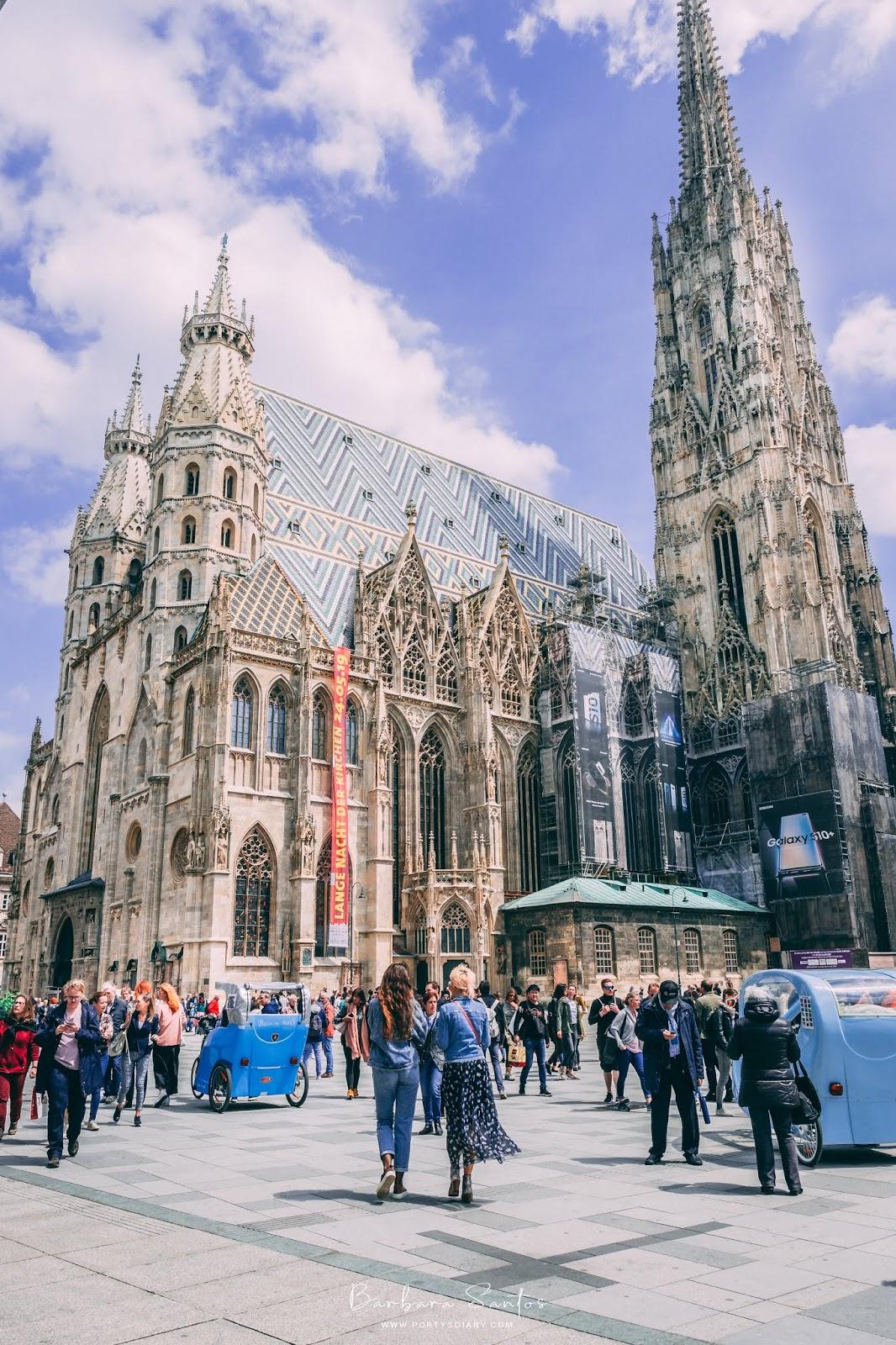 Chevron tile work on Stephansdom's roof | Vienna - Travel