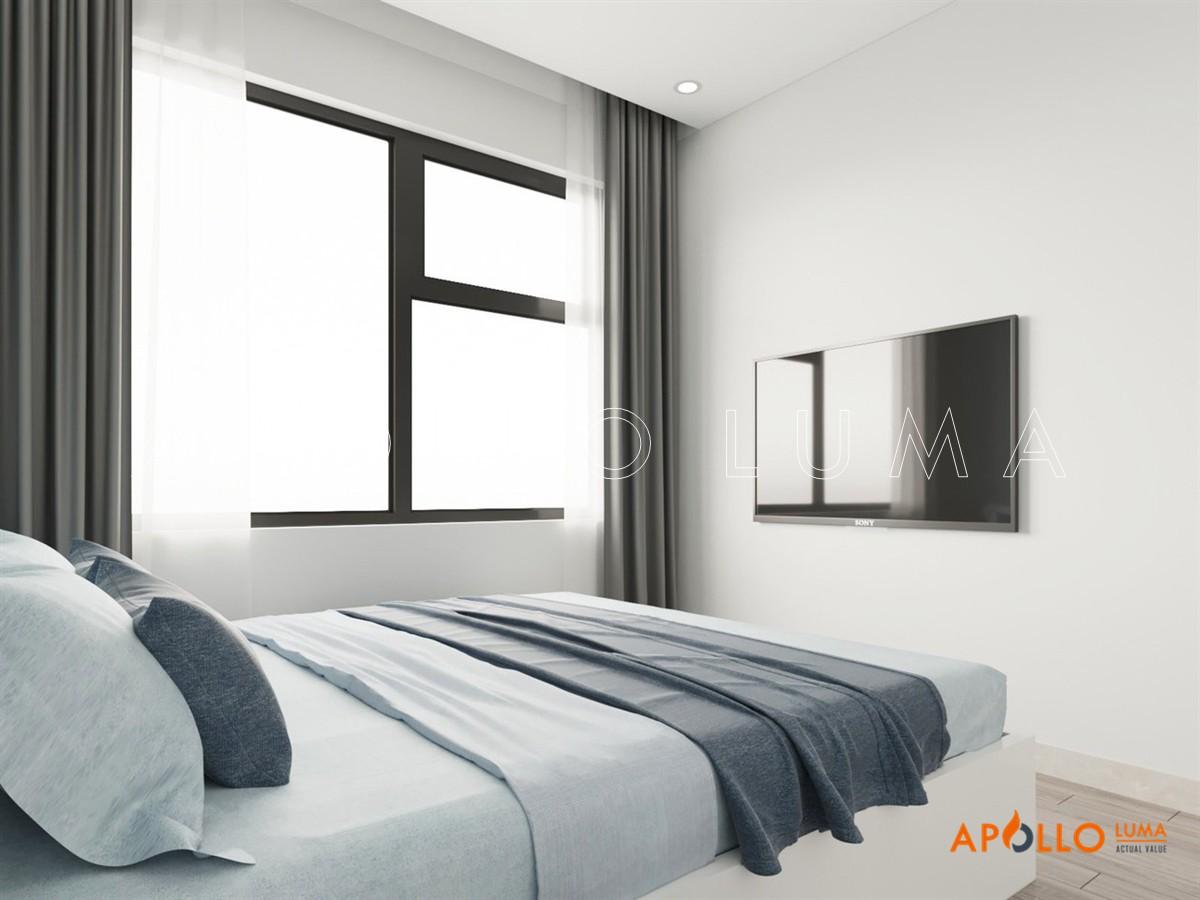 Thiết kế nội thất Vinhomes Smart City : Căn hộ 2PN+1 (55m2)