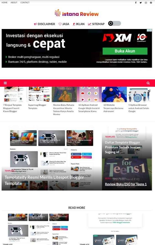 25 Situs Paling Terkenal Tempat Download Template Terbaik untuk Blog