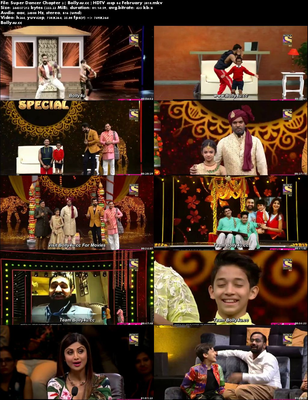 Super Dancer Chapter 2 HDTV 200MB 480p 04 February 2018 Download