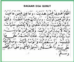 Bacaan Doa Qunut Lengkap Arab, Latin dan Artinya