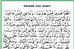 Bacaan Doa Qunut Lengkap Arab dan Latin beserta Artinya