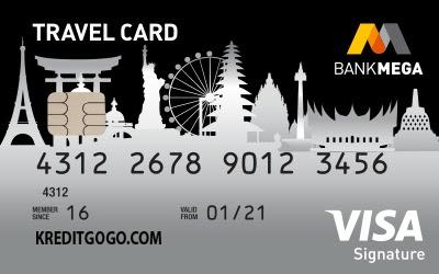 5 Rekomendasi Kartu Kredit Terbaik Untuk Mengumpulkan Miles - Kartu Kredit Mega Travel Card dari Bank Mega