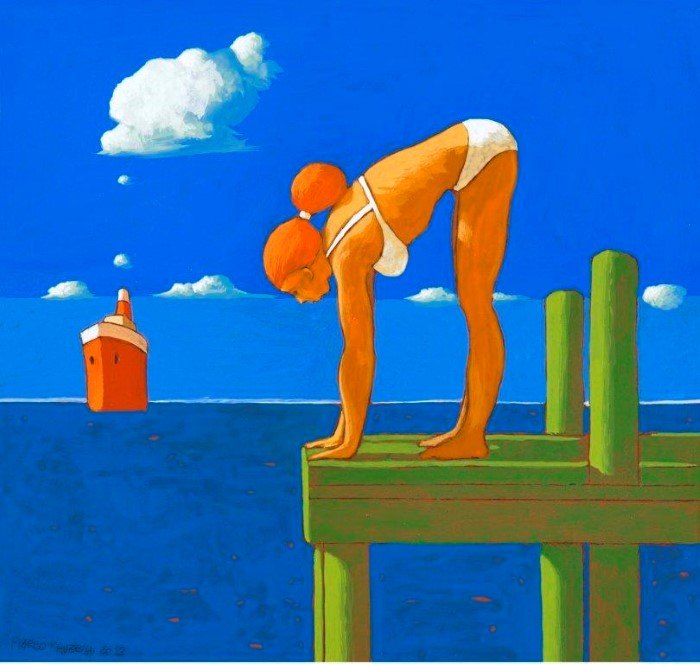 Итальянский художник. Marco Manzella