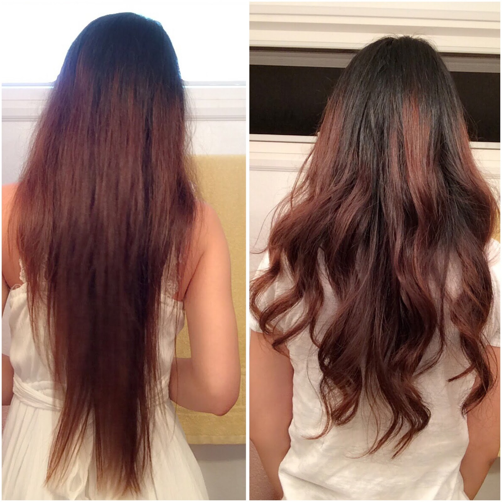 Japanese straight perm wash hair - Comparison Pictures Before Taken In The Morning Before I Left After Air Drying After Shampoo And Conditioning And After Night After Appointment