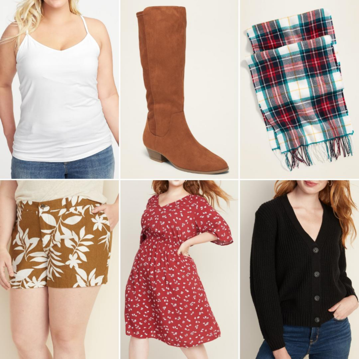 bblogger, bbloggers, bbloggerca, bbloggersca, canadian beauty bloggers, beauty blog, style blog, lifestyle blogger, southern blog, old navy, haul, winter, spring, fashion, style, 2020, social distancing, shaker stitch, faux-suede boots, linen shorts, waist defined dress, shelf bra cami, plaid scarf