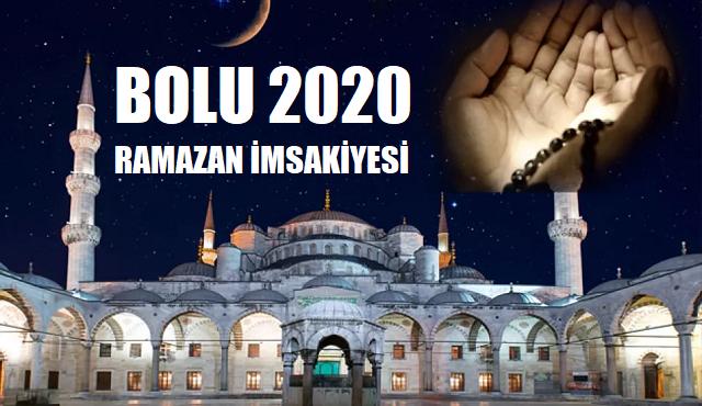Bolu 2020 Ramazan İmsakiyesi, İftar ve Sahur Vakitleri