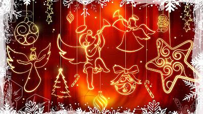 Kerstversiering met engelen en sterren