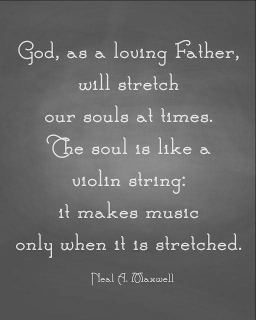 """The soul is like a violin string, it makes music only when it is stretched."" 