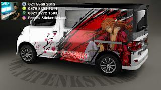 Decal sticker mobil Luxio samurai x