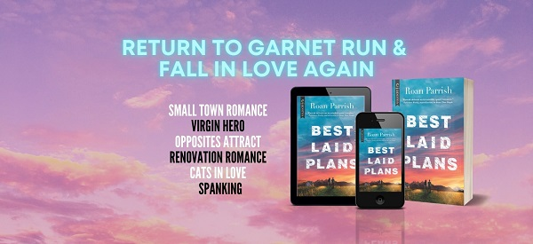 Return to Garnet Run & fall in love again. Small-town romance. Virgin hero. Opposites attract. Renovation romance. Cats in love. Spanking.