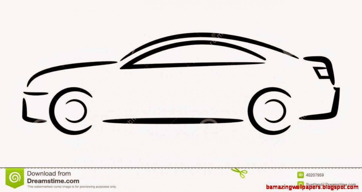 Car Outline Amazing Wallpapers