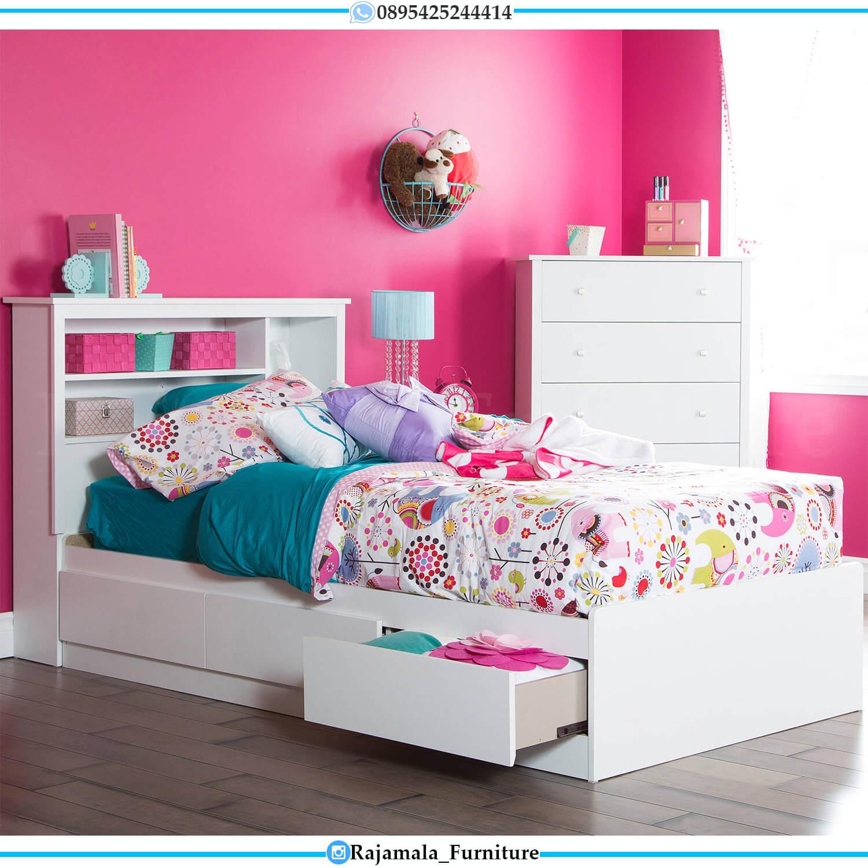 New Tempat Tidur Anak Model Laci Minimalis Modern Jepara RM-0432