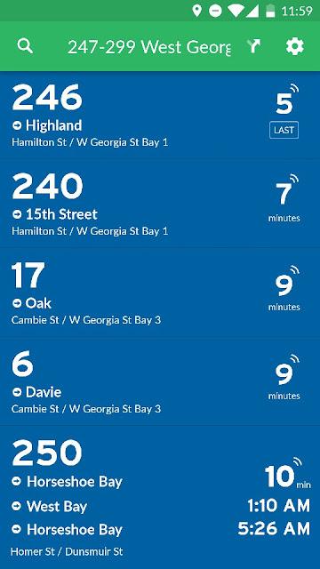 Transit schedule