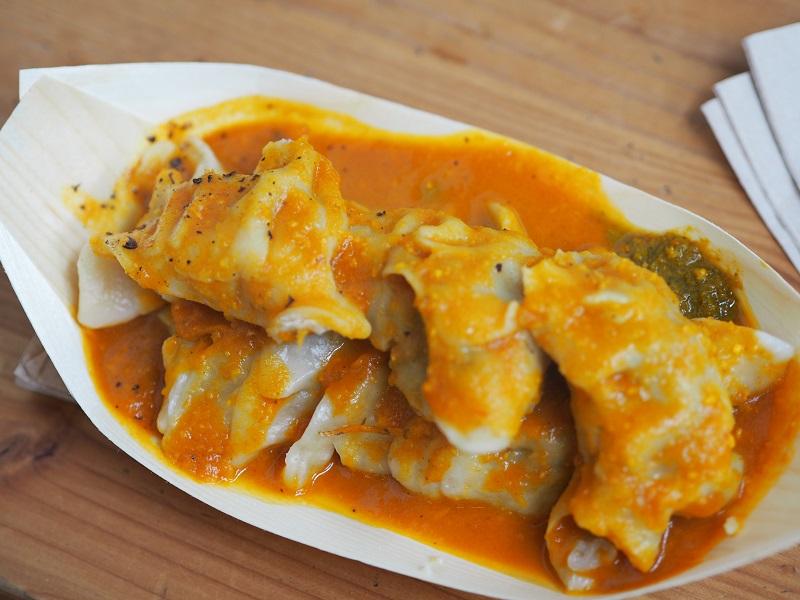 Momo Nepalese dumplings at Markthalle Neun