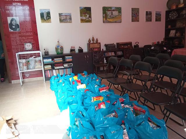 """Ναύπλιο: Τρόφιμα παρά τις αντίξοες συνθήκες από το """"Ίδρυμα Γεωργία Σαμαρτζή"""" σε οικογένειες που έχουν ανάγκη"""