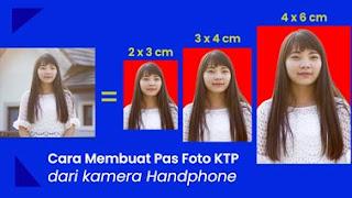 cara membuat ukuran pas foto KTP