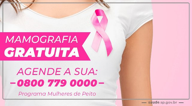 Programa Mulheres do Peito oferece exames gratuitos de Mamografia