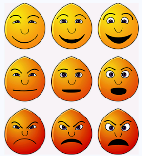 different emoticons expressing different feelings