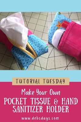 Pocket tissue and hand sanitizer holder