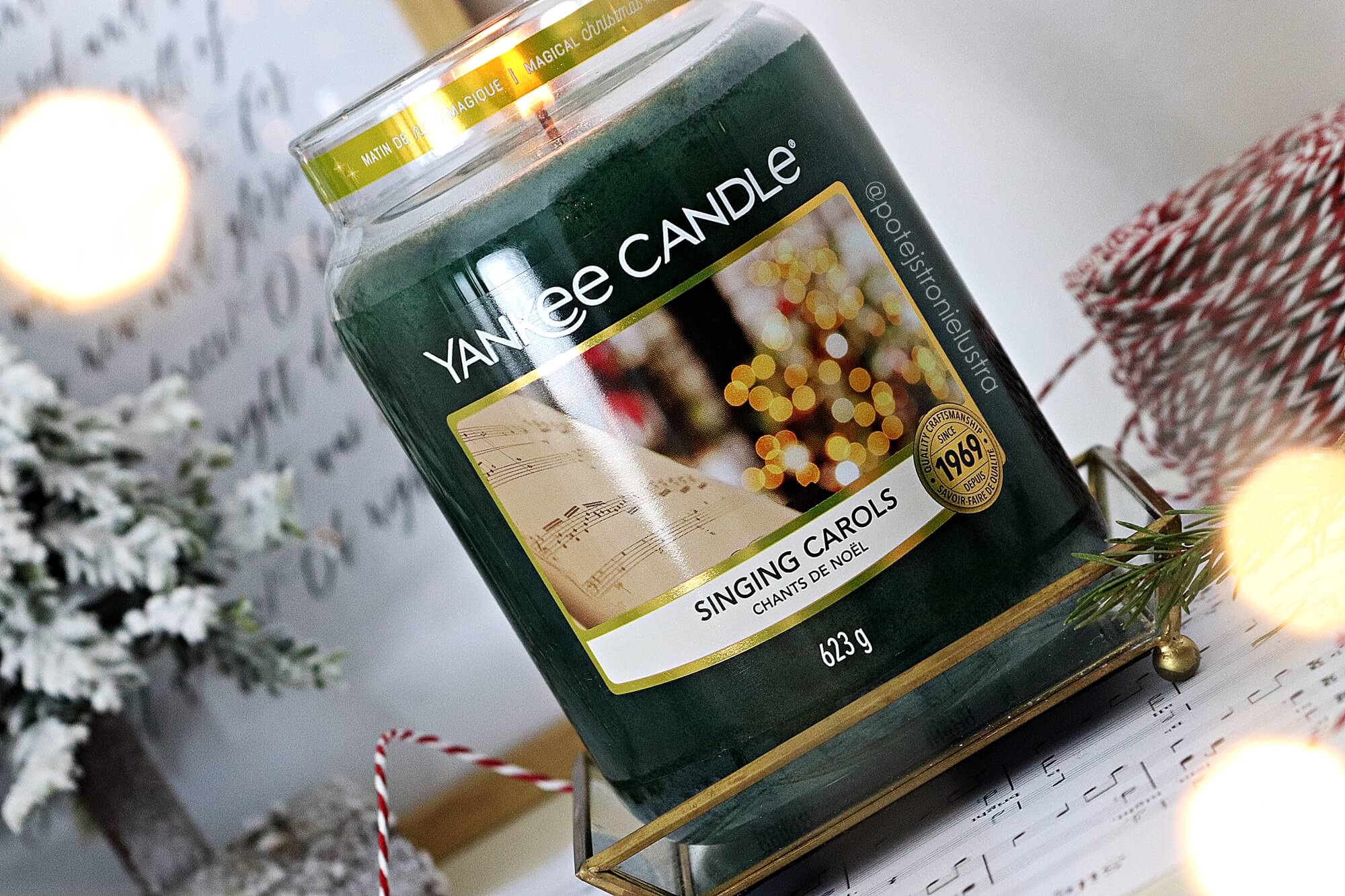 yankee candle singing carols etykieta
