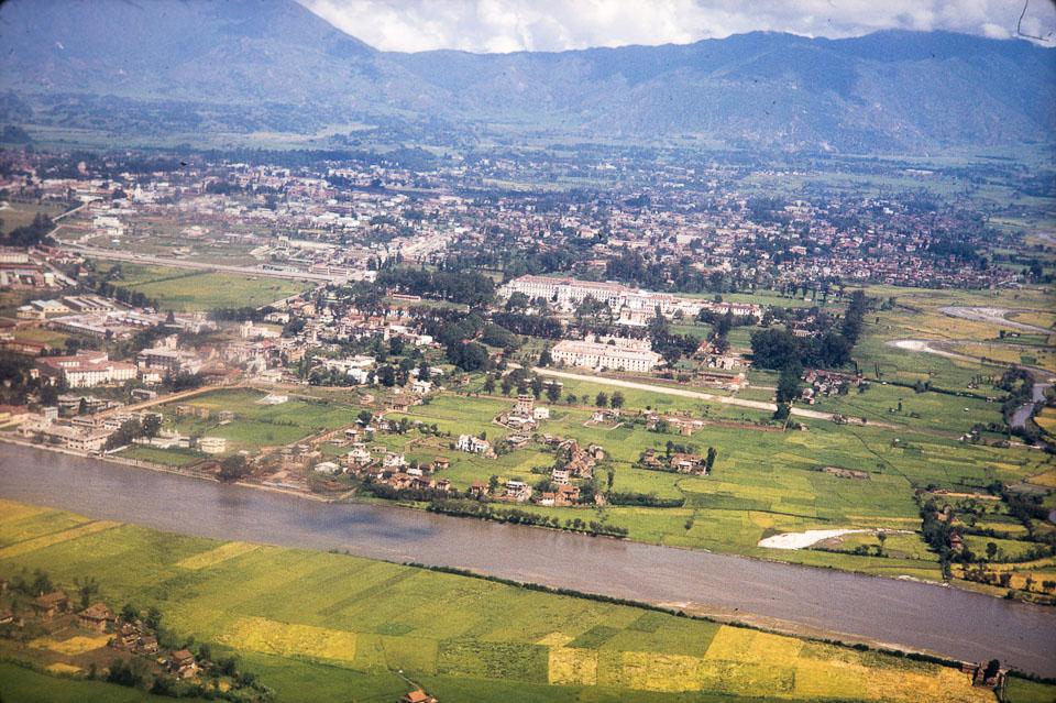 Old photo of Kathmandu   Aerial view of kathmandu