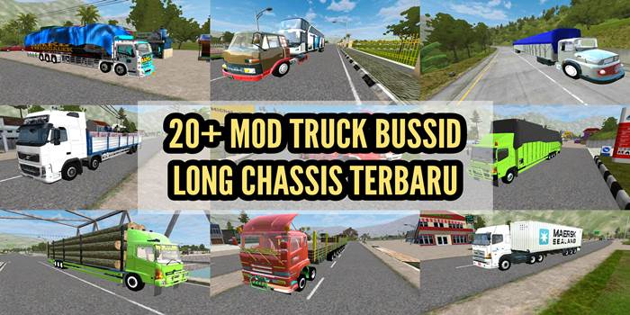 download mod bussid truck long chassis